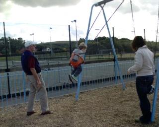 2006-08-29--Swings With Grandad