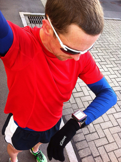 Running with Sunwise Waterloo sunglasses