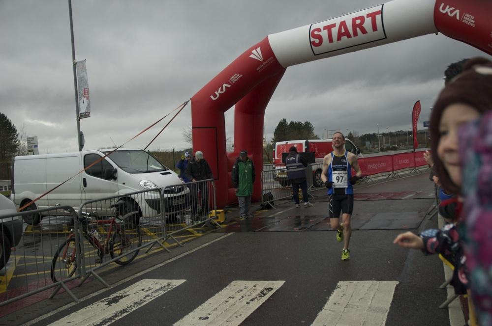 Llanelli half-marathon 2014 finish