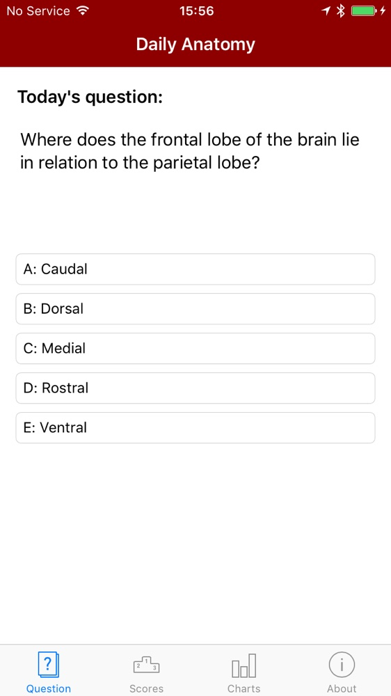 Daily Anatomy Iphone App Question
