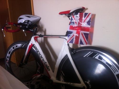 Bike & GB flag