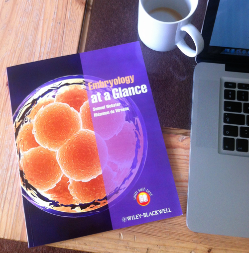 Embryology at a Glance on my coffee table