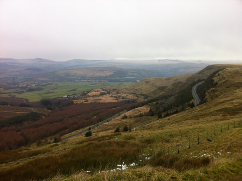 View from the Rhigos Mountain